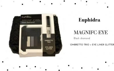 Idea Regalo Euphidra: Pochette con TRIO OMBRETTO + EYE-LINER GLITTER