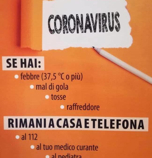 """""""Coronavirus"""" cosa fare in caso di sintomi anche leggeri"""